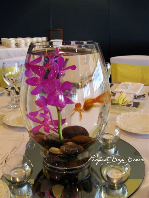 Wedding Centerpieces Using Gold Fish Goldfish Wedding Centerpieces Not Flowers