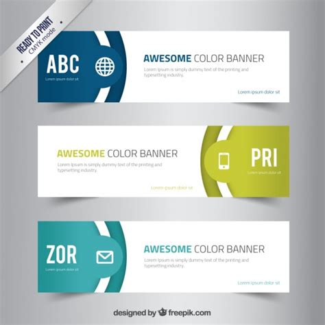 Awesome Color Banners Vector Free Download Free Email Banner Templates