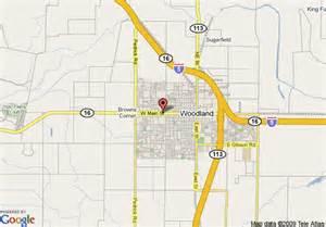 map of woodland california map of econo lodge woodland woodland