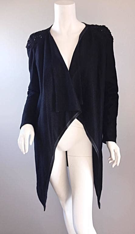 After Can Givenchy Lacroix And Chanel Measure Up by Givenchy By Ricardo Tisci Black Runway Cardigan Sweater W