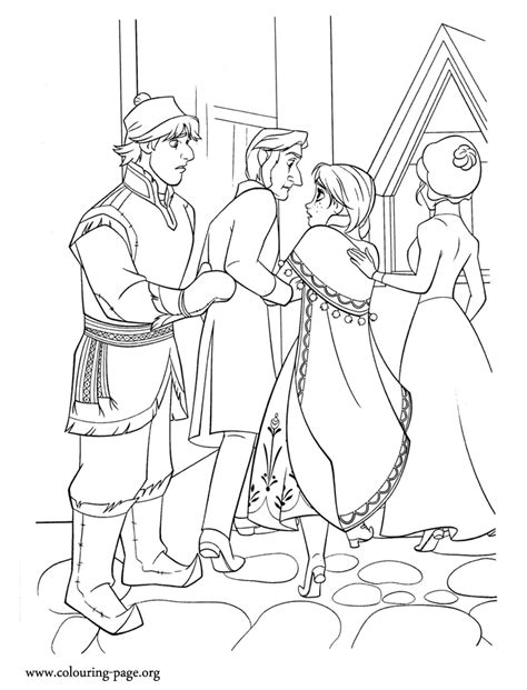 frozen coloring pages castle frozen kristoff returns to the castle with coloring