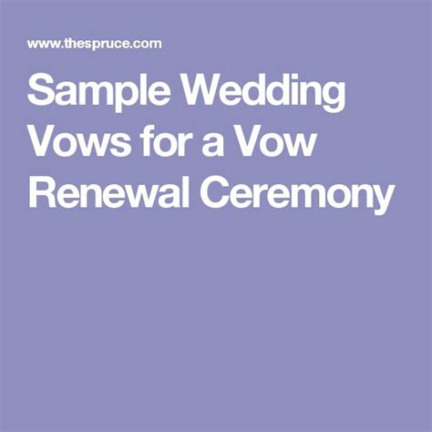 sle wedding vows for a vow renewal ceremony sle wedding vows vow renewal ceremony and