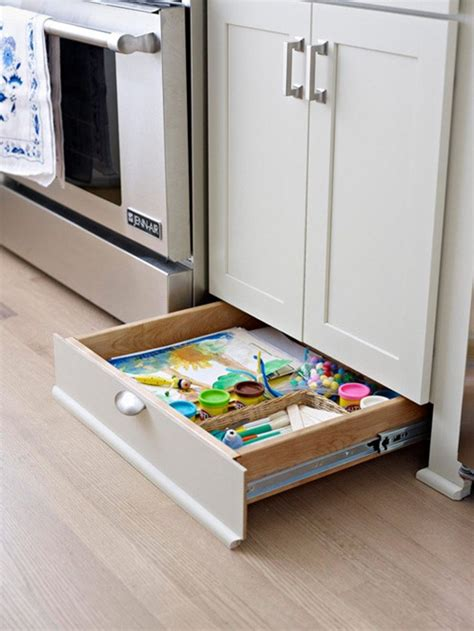 under kitchen cabinet storage drawer bhg centsational style