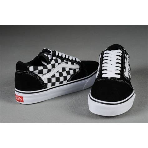 Vans Oldskool Canvas Black White Original Vans Black White Checkered Original S Skool