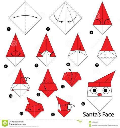 Simple Origami Santa Claus - origami paper hat origami santa hat tutorial henry ph 225 186 161 m