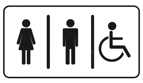 man woman bathroom symbol restroom toilet symbol signage man woman and invalid one