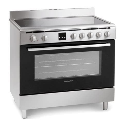 Wajan Stainles Uk 30 Cm By 555 montpellier mr90cemx stainless steel electric range cooker