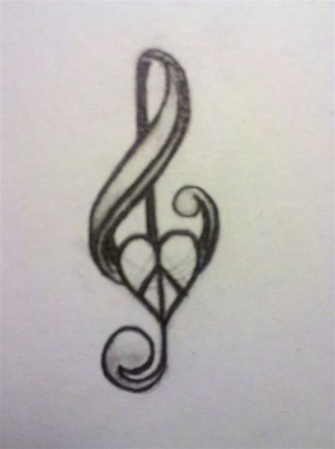easy musical tattoo music note and peace sign tattoo art ideas pinterest