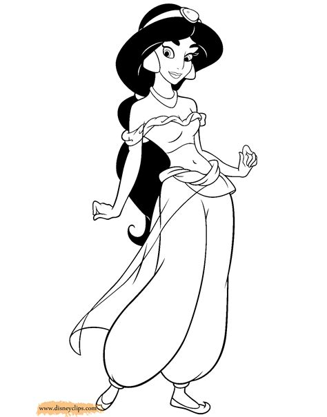 coloring pages jasmine aladdin coloring pages 2 disney coloring book