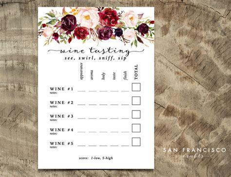 printable judging cards wine tasting card printable wine tasting scorecard holly