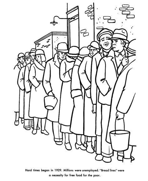 soup kitchen coloring page usa printables the great depression coloring sheet