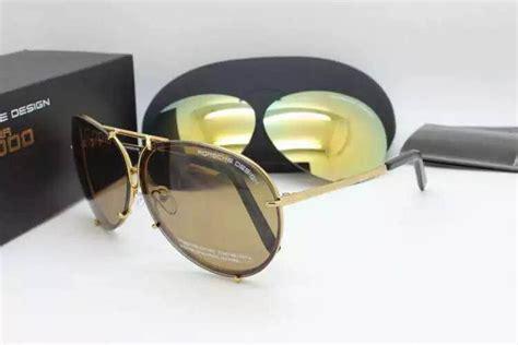 Sale Sunglass Porsche Design P5234 Polarized Premium Quality porsche design titanium light gold frame aviator pilot sunglasses p 8478 brown lenses gold