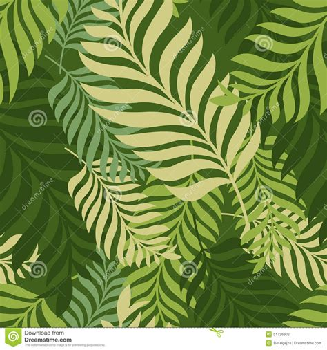 seamless pattern nature green palm tree leaves vector seamless pattern nature