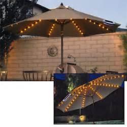 Solar Powered Patio Umbrella Lights 48 Led Solar Powered Garden Parasol Umbrella Chain Light 6 Strut Lights Ebay