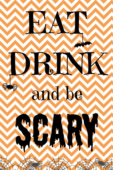 printable halloween decorations scary 4 best images of scary halloween signs printable scary