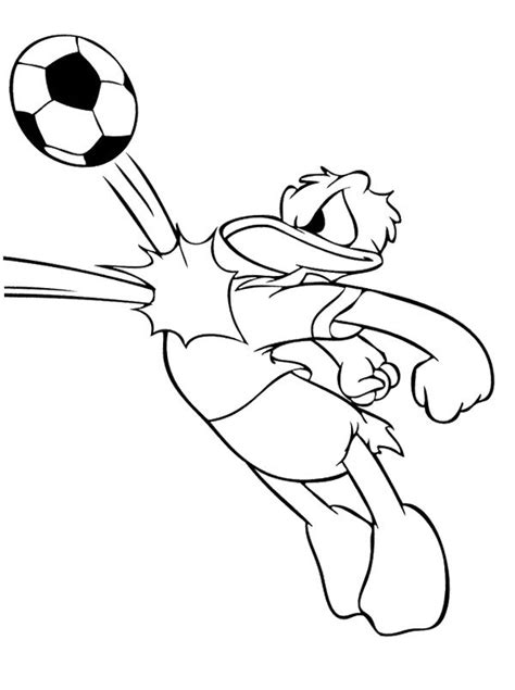 disney football coloring page donald duck playing soccer coloring page soccer coloring