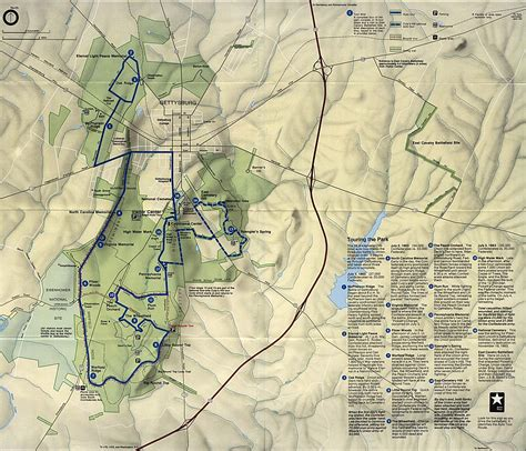 gettysburg map the american civil war