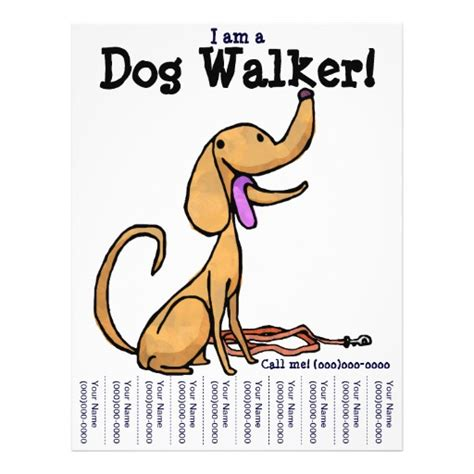 i am a dog walker flyer zazzle