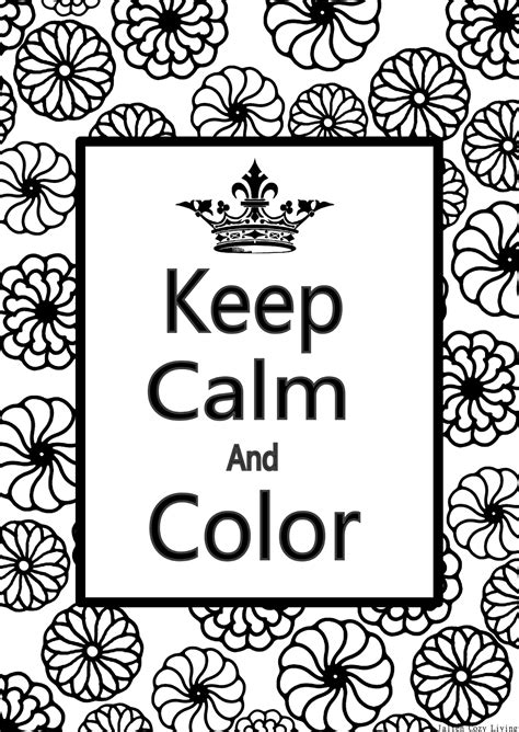 color for calm keep calm free coloring pages