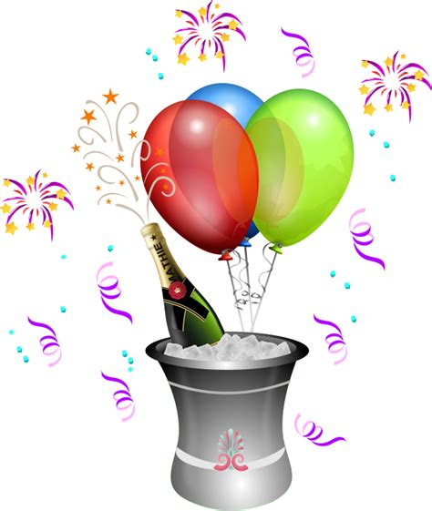 Free New Year Day Celebration Clip Art