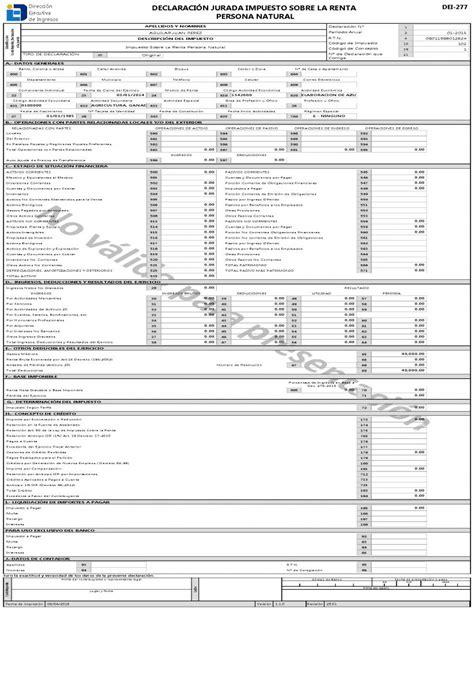declaracion jurada 2015 personas naturales declaraci 243 n jurada del impuesto sobre la renta persona