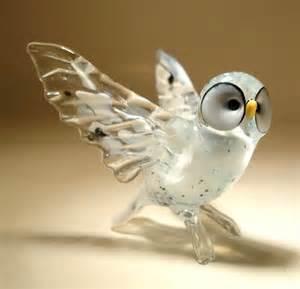 blown glass quot murano quot art figurine bird white north polar