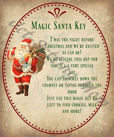 printable christmas key diy christmas crafts magic santa key how to free printable