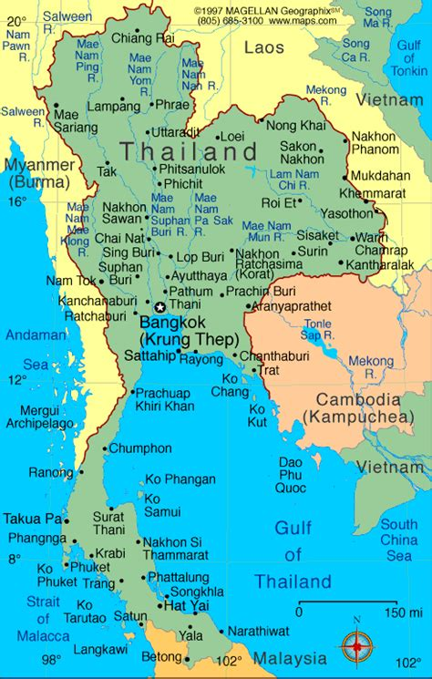 printable map thailand detailed map of thailand maps