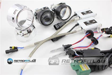 2x bi xenon projectors voor inbouw in kopl mini h1 bi