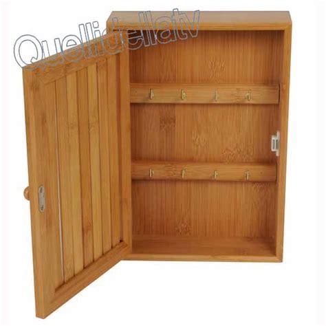 cassetta porta chiavi cassetta portachiavi 8 posti in legno bamboo porta chiavi
