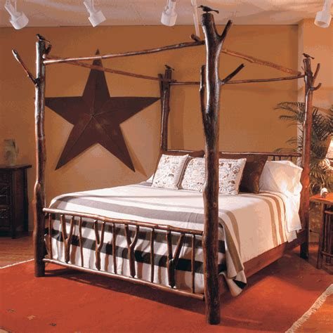 Poster Bed King by Black Forest Hickory Poster Bed King