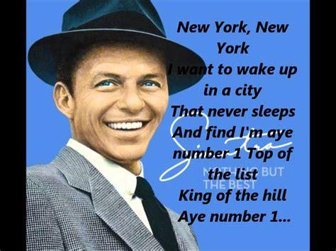 best part of waking up anarbor lyrics frank sinatra new york new york song lyrics hd