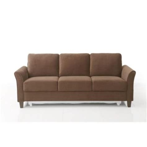 Curved Arm Sofa Lifestyle Solutions Ccwenks3m26cfva Westin Curved Arm Sofa Coffee Walmart