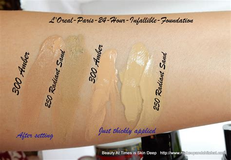 Loreal Infallible 24hour l oreal 24 hour infallible foundation everything