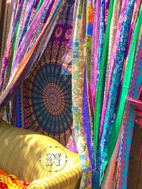 interior romantic hippie curtains  hippie room
