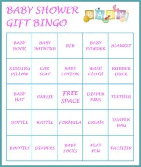 Baby Shower Bingo Card Templates Free by The World S Catalog Of Ideas