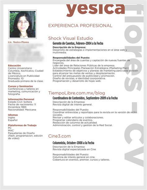 Como Hacer Un Curriculum Vitae Profesional Modelo C 243 Mo Hacer Un Curriculum Vitae Que No D 233 Verg 252 Enza El De Yes