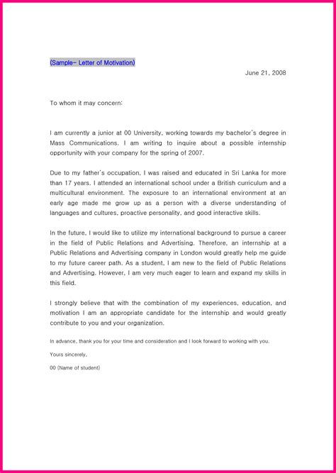 College Utrecht Letter Of Motivation 10 Motivation Letter