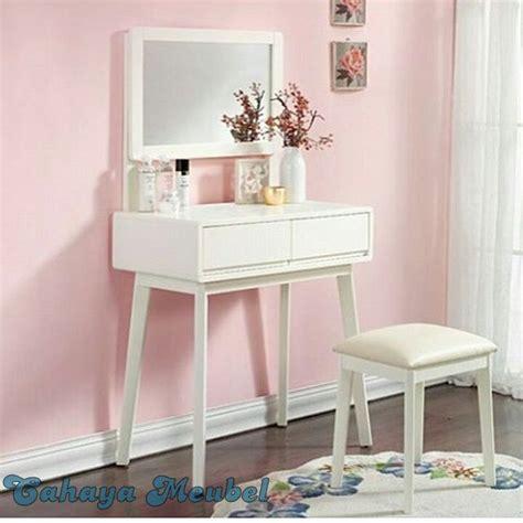 meja rias minimalis duco putih jepara cahaya mebel jepara