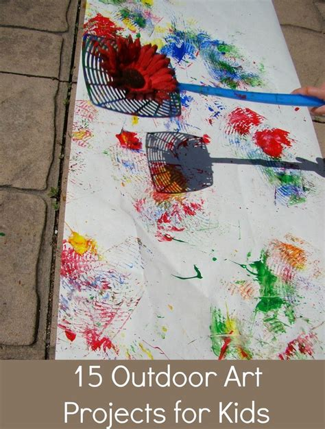 patterns in nature art lesson plans 15 fun and messy outdoor art projects for kids summer