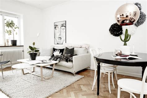 Black And White Scandinavian Interiors by As A Moodboard Black And White Scandinavian Home