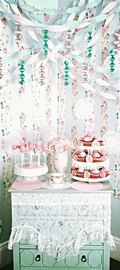 shabby chic party decor party ideas amp inspirations