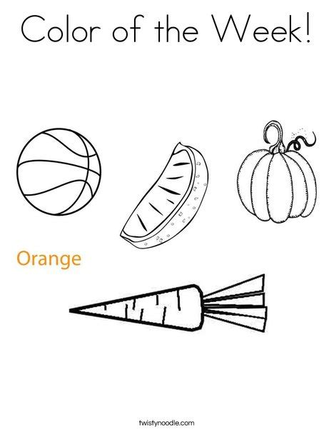 color of the week coloring page twisty noodle