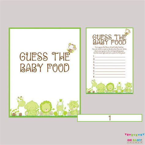 baby food guessing template baby shower images gallery page 2 salopetop