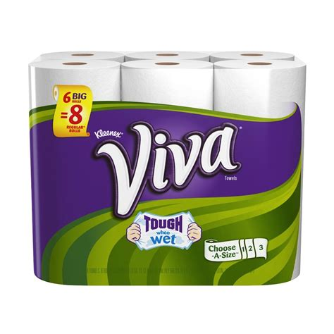 Who Makes Viva Paper Towels - viva paper towels choose a sheet big roll 6