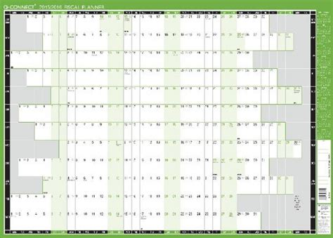 Capital Academic Calendar Q Connect Mounted Wall Planner Laminated 2017 18