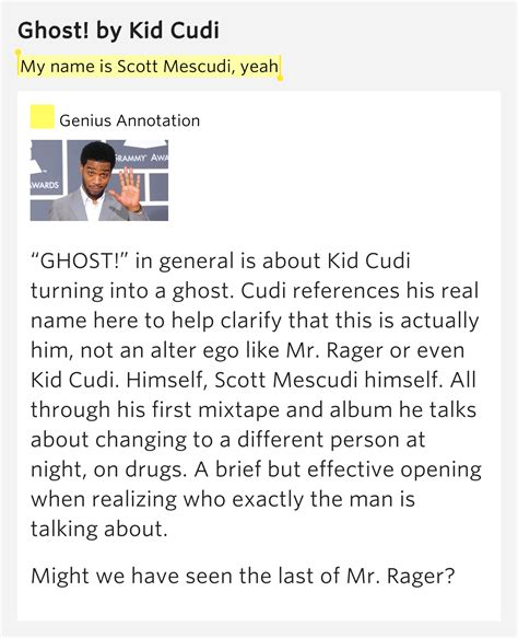 my ghost has a name memoir of a murder books my name is mescudi yeah ghost by kid cudi