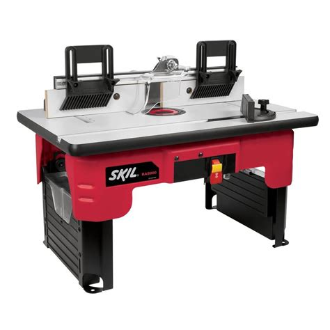router bench skil router table with folding leg design and tall fence