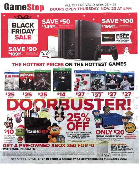 Black Friday Restaurant Gift Card Deals 2017 - gamestop black friday 2017 ads deals and sales