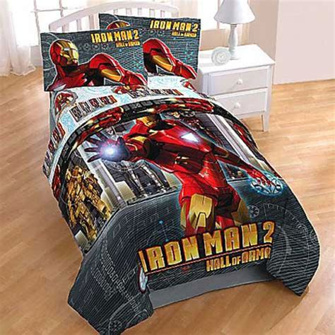 Iron Man Bedding Set Twin Marvel Comic Bedding Set